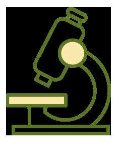 ilustração de um microscópio utilizado em laboratório