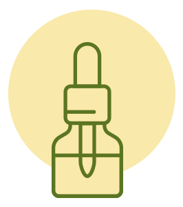 ilustração de vidro de óleo cdb