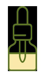 ilustração de um óleo de canabidiol